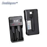 Doublepow Bateria Carregador Portátil Inteligente 18650 Lítio Bateria Carregador 3.7V Carregamento Universal Caixa com Saída USB