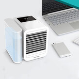 [Upgrade Version]Microhoo 3 in 1 Desktop Air Conditioner from Eco-system Cooling Fan Humidification Purification 7 Colors Light Stepless Brightness Adjustment