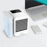 [Versão de atualização] Microhoo 3 em 1 condicionador de ar de mesa da purificação de umidificação de ventilador de resfriamento Eco-system 7 cores Ajuste de brilho contínuo de luz