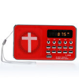 Bible AUX U-disk TF SD Card Audio MP3 Music Player Portable Mini FM Radio Speakers For Elders Gift