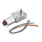 Machifit GW370 DC 6V 1/10/30/50RPM Mini-turbine Rod Geared Motor With Encoder For Automatic Sprayer