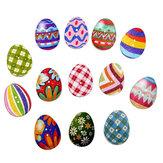 Madera Botones huevos de Pascua mezclados 2 agujeros Botones para coser manualidades de Scrapbooking DIY
