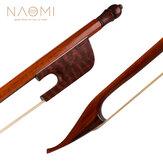 NAOMI Profesyonel Keman / Fiddle Yay 4/4 Snakewood Yay Barok Tarzı Snakewood Kurbağa Beyaz Moğolistan At Kılı Iyi Denge