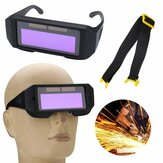 Solar Powered Auto Darkening Svetsmask Hjälm Eyes Goggle Two-way Glasses