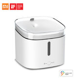 Xiaomi Mijia 2L Smart Automatic Pet Water Dispenser Fountain Drinking Bowl Living Water Supply Intelligent Linkage Mijia APP Control Pet Accessories For Cats Dogs Drinking Water