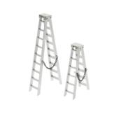 Escada de plástico para carro de escalada axial para 1/10 SCX10 90046 RC4WD D90 Peças de modelos de veículos automotivos RC