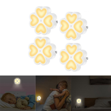 0.5W Light Sensor LED Night Wall Lamp Plug-in For Baby Kid Bedroom Home AC100-240V