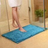 Honana WX-329 50x80cm Chenille Weiche Matte Maschine Waschbarer Badezimmer Anti-Rutscher Saugfähiger Teppich Tür Matte Decke