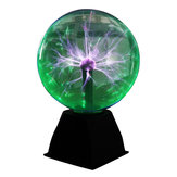 8 Inches Green Light Plasma Ball Electrostatic Voice-controlled Desk Lamp Magic Light