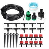 Kit d'arrosage de goutteur d'irrigation de tuyau 10 / 25m Kits d'outils de refroidissement de jardin pour système d'irrigation automatique