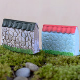 Miniature Bounding Wall Ornaments Microlandschaft Garden Bonsai DIY Decor