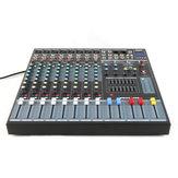 Executant EMX8 8-kanaals professioneel podium Live audio-geluidsmixer USB mengpaneel KTV Bar Club