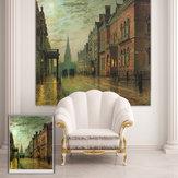 Pag rolo cego persianas cena wall street fundo da pintura de impressão decoração cortina da janela
