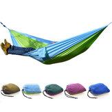 Camping en plein air Hamac Parachute Tissu Léger Nylon Hamac Portable Pour 1-2 Personnes 260 x 140 CM