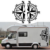 2PCS Side Stickers Decals Compass For VW Multivan Transporter Caravelle T4 T5 T6