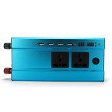4000W/3000W 4 Interfaces USB Inversor de Energía Solar 12V/24V DC a 220V AC Transmisor Cargador