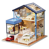CuteRoom A-061-A Seattle DIY Dollhouse Modelo em miniatura com Light Music Collection Gift Decor