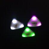 ZORY Pressed LED Palheta de guitarra luminosa Palheta de guitarra luminosa tocando acessórios de guitarra