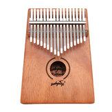 17 touches Kalimbas africain massif acajou bois pouce Piano doigt Percussion cadeaux musicaux