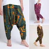 Pantalones de harén de pescador tailandés con cintura elástica informal de 3 colores para hombre