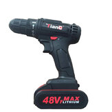 48V Cordless Electric Drill Driver Tool 1500mah Li-Ion Battery Electric Screwdriver