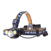 XANES 2606-3 550LM T6+2*COB LED White Red Light HeadLamp 7 Modes 2x18650 Battery Super Bright