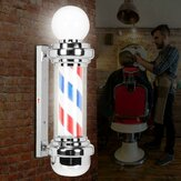 LED Barber Shop Pole Red White Blue Stripes Rotating Light Sign Cabelo Lâmpada de salão