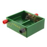 Çift Yuvası 2 Adet D Boyutu Batarya Tutucu Kutu Konteyner w / Bağlama Mesajları Fizik Elektrik Deney