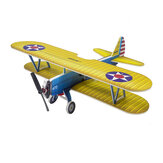 Dancing Wings Hobby E25 Stearman PT-17 Kaydet 450mm Wingspan PP Material RC Airplane Flying Wing KIT Compatible S-FHSS/Flysky/Frsky D16/DSMX/DSM2
