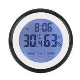 タッチスクリーン温度計湿度マイナー湿度計センサー目覚まし時計高品質