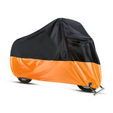 190T Motorcycle Cover Waterproof Outdoor Rain Dust UV Scooter oranje zwart beschermer L-4XL