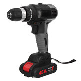 48VF Cordless Brushless Electric Impact Drill Screwdriver Power Tool W/ 1 or 2 Battery