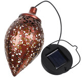 Solarenergie LED Hängende Laterne Light Metal Garden Yard Decor Lampe wiederaufladbar