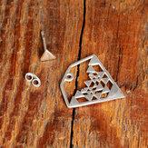 Boheemse geometrische oorknopjes voor achter Combinatie tweevoudige driehoekige hangeroorbellen