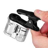 60X tragbare Mikroskoplupe mit UV Lampe und LED Licht