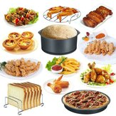 Air Fryer Accessories 20PCS 8 Inch Baking Basket Pizza Plate Grill Pot Kitchen Cooking Tool for Party