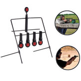 Metal Shooting Targets Stand Resetting Spinning AR500 Steel Targets Air Pellet Trap Airgun Shooting Hunting Tactical Practice Training Supply