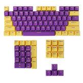 FEKER 104 Keys Midnight Golden Keycap Set OEM Profile PBT Doubleshot Two-color Injection Keycaps for Mechanical Keyboards