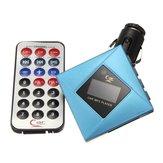 Kit de coche lcd reproductor de mp3 fm modulador transmisor tf usb sd + remoto