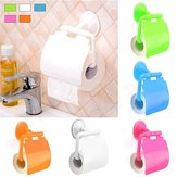 Toilet Paper Holder Suction Cup Tissue Roll Stand Bathroom Rack