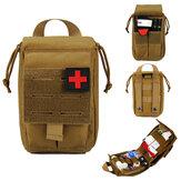 Sac de premiers secours Sac de taille de survie tactique Sac d'urgence étanche réglable