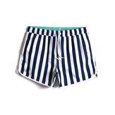 Męskie spodenki plażowe Classic w paski z luźnym, szybkoschnącym sznurkiem w talii