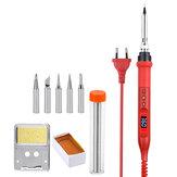 JCD 908U Elektrikli Lehimleme Demir Parçalar Kitler 100W 220V / 110V LCD Aydınlatma Çözme İstasyonu Ayarlanabilir Sıcaklık ile Lehimlemek Tutucu Uçları Tel