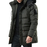 Winter Thick Detachable Fluffy Hood Windproof Outdoor Parka