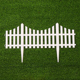 6PCS PVC  Plastic White Fence Courtyard Indoor European Style For Garden Vegetable Driveway