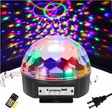9 colores LED Control de voz con Control remoto MP3 Crystal Ball Flashlightts Stage Sprinkle Lights