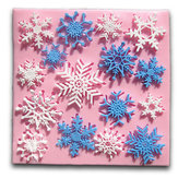 Christmas Snowflake Fondant Mold Cake Silicone Mould Decorating Tool