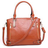 Women PU leather Multi Pocket Casual Vintage Handbag Shoulder Bag