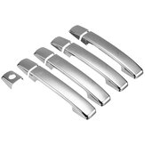 9 Pcs Chrome Plastic Outer Door Handle Cover For Nissan Navara D40 2005-2015