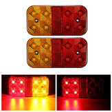 Pair 24V 8LED Brake Tail Light Turn Signal Lamp for Trailer Truck Lorry